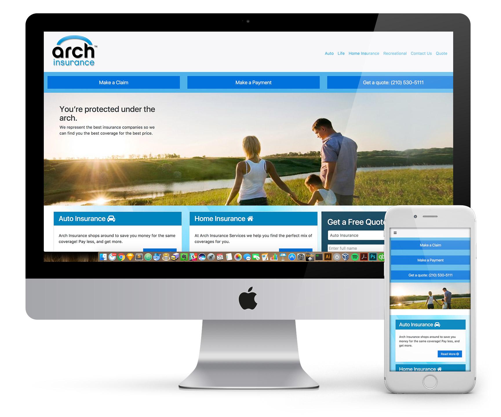 Arch Insurance Site Redo