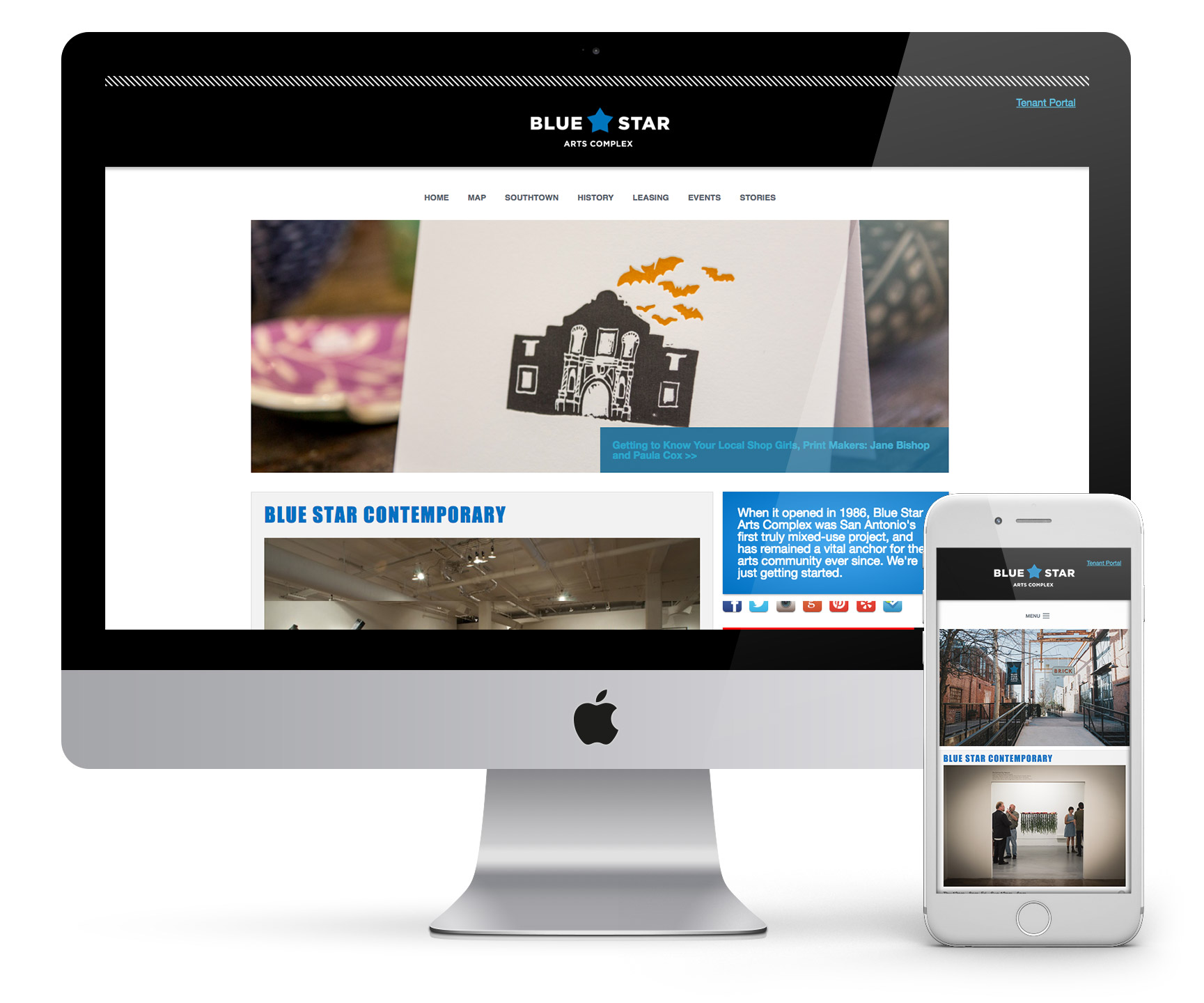 Blue Star Arts Complex Website